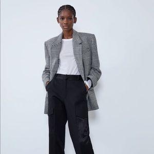 Zara houndstooth oversized blazer